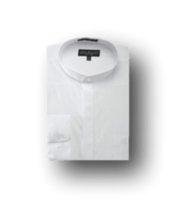 White-Banded-Collar-Dress-Shirt