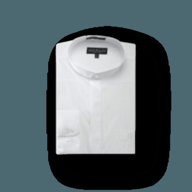 White-Banded-Collar-Dress-Shirt