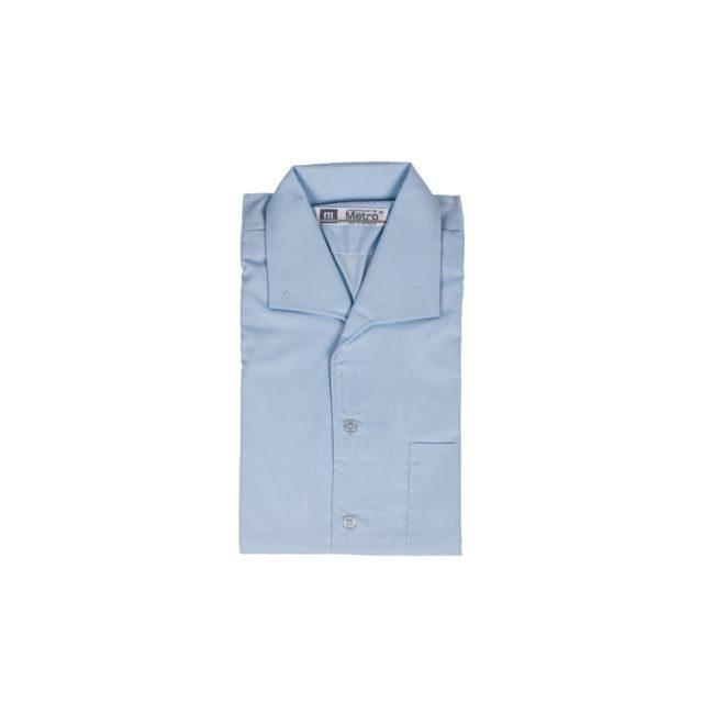 blue open neck shirt eccles11